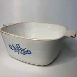 Vintage Early 60's Corning Ware Blue Cornflower 1.75 Qt Pre Series Number