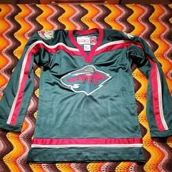 Vintage Ccm For Her Nhl Minnesota Wild Jersey Womens Small