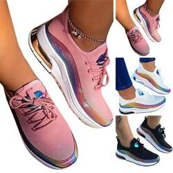 Ladies Walking Sneakers Breathable Trainer Sport Mesh Tennis Running Shoes Size