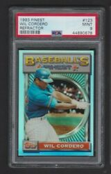1993 Topps Finest Refractor 123 Wil Cordero Expos Graded Psa 9 Mint Rare Sp/241