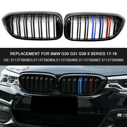 M-color Gloss Black M Look Front Grill Double Fin Replacement For Bmw G30 Z2l4