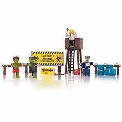 Roblox Action Collection - Zombie Attack Playset Includes Exclusive Virtual Item