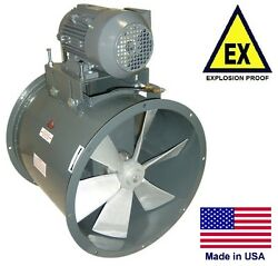 Tube Axial Duct Fan - Explosion Proof - 24 - 1/2 Hp - 230/460v - 5650 Cfm - Wet