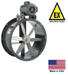 Tube Axial Duct Fan - Belt Drive - Explosion Proof - 27 - 115/230v - 8330 Cfm