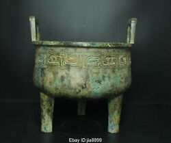 Old China Chinese Antique Bronze Ware Dynasty Statue Incense Burner Censer