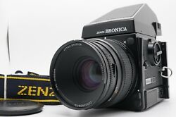 [exc+5] Zenza Bronica Gs-1 6x7 Pg 100mm F/3.5 Mf Lens Ae Finder W/ Strap Japan