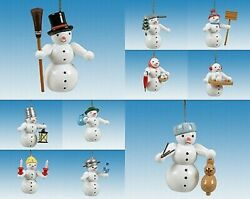 Christmas Tree Ornament Decoration 10-teilig/snowman Height Approx 2 5/8in New