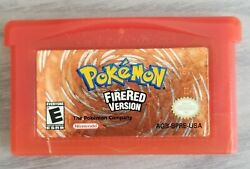 Pokemon Firered Version Fire Red Game Boy Advance Gba Authentic Tested Works