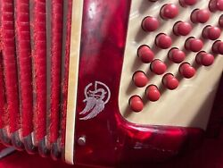 Rondini Accordion Burgundy Red With Ivory Color Keys In Good Shap
