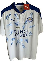 Leicester City Shirt Champions Signed 2015/16 Season