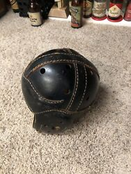 Antique Vintage Leather Football Helmet Goldsmith 64 Old Rare 1930s 40s Winged