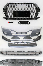 Replacement For 2013 - 2018 Q3 Front Bumper Sline Grille Lower Spoiler 8pc Set
