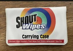 Vintage 1998 S.c. Johnson Shout Wipes Carrying Case Vinyl Laundry Stain Remover