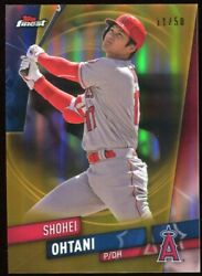 Shohei Ohtani 2019 Topps Finest 100 Rare Gold 11/50 Refractor Parallel Angels
