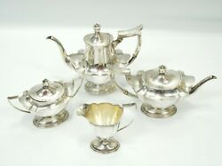 Vintage Gorhan Sterling Silver Coffee And Tea Plymouth Four Piece No Monogram