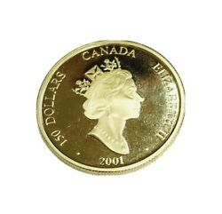 Canada 150 Dollars Coin Hologram Lunar Year Of The Snake 2001