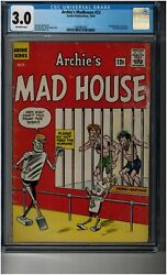 Archieand039s Madhouse 22 Cgc 3.0 - 1st Appearance Of Sabrina The Teenage Witch