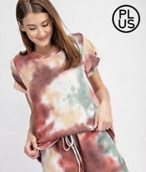 Rae Mode New New Without Tags Tie-dye Pattern Super Soft Shirt Top Sz 2x