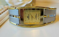 Vintage Denacci Two Tone Gold And Silver Bracelet Band Watch New Battery
