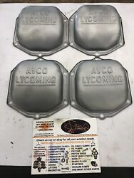 Avco Lycoming Parallel Valve Cover Rocker Box 235 290 320 360 540 Set 4 Used