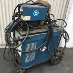 Used Miller Cp-200 Dc Arc Welding Power Source With Millermatic 10e Feeder