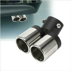 1x Car Exhaust Muffler Stainless Steel Tail Pipe Trim Decorative Tip Free Return