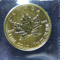 2009 1/10oz Gold Canadian Maple Leaf .9999 Pure Still In Mint Plastic