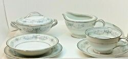 Noritake Colburn China Japan 6107 Complete 7 Pc Service For 12 Excellent 96 Pc