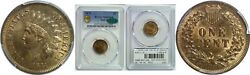 1873 Indian Head Cent Pcgs Ms-65 Rb Cac Open 3