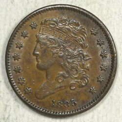 1835 Classic Head Half Cent Original Almost Uncirculated+ Nice Type Coin -02