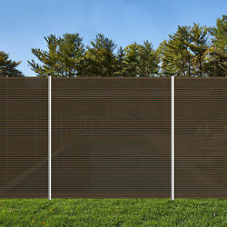 6 Ft Brown Outdoor Pool Privacy Fence For Inground Pools Freestanding Removable