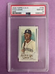 2020 Topps Allen And Ginter Kyle Lewis Rc Rookie Mini 159 Psa 10 Gem Mt Mariners