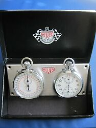 Heuer Stopwatch Chrono Panel From The 50and039s/60and039s. Porsche Jaguar Audi Bentley Mga