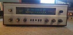 Vintage Fisher 500c Stereo Tube Receiver Amplifier W Wood Case Cabinet Antique