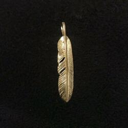 Goroand039s 18k Yellow Gold Feather Menand039s Accessories Collectible Free Shipping Japan