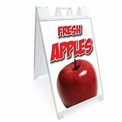 Signmission Signicade Fresh Apples A-frame Sidewalk Sign With Graphics On Eac...
