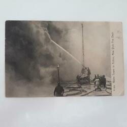 Water Tower In Action, New York Fire Dept. Litho Postcard, C1905
