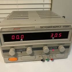 Sinometer Single Output Dc Power Supply, Digital 0 To 30v @ 0-10a Model Hy3010