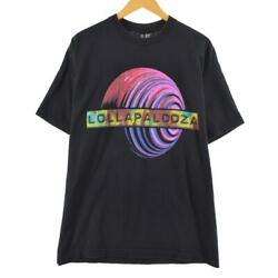 90 Giant Lollapalooza Both Sides Print Band T-shirt Made In Usa Menand039s Xl