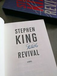 Stephen King Hand Signed Revival 1st Edition Including Flyer Of The Event