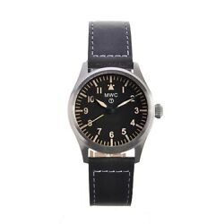 Mwc Mens Swiss Military Aviator Watch Stainless Steel Hybrid Movement 100m/330ft