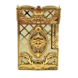 S.t.dupont Gas Lighter Gatsby Versailles White Rectangle Lg2929