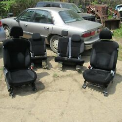 2010 Outlander Seats Set Black Front Buckets And Rear Bench 60/40 Complete Units
