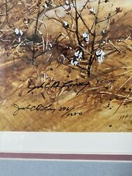 Limited Edition Jack Deloney Art Print Dooley's Cotton. Framed And Signed