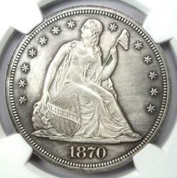 1870 Proof Seated Liberty Silver Dollar 1 Coin - Ngc Proof Details Pr/pf