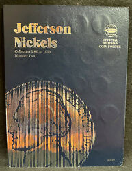 Complete Set 1962 - 1995 Pandd Jefferson Nickels Whitman 9039 Album Circulated