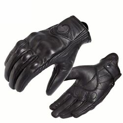 Guantes Amu Motorcycle Gloves Real Leather Baseball Motorbike Electric Bicycle