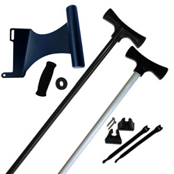 New - 8' Stick It Anchor Pin With The Motor Mount Bracket - White/starboard Side