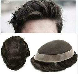 Lyrical Hair Toupee For Men Human Hair Undetectable French Lace Mens Replacement
