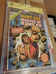 Giant-size Master Of Kung Fu 1 Cbcs Gold Label 7.5 Ron Wilson Sig - Shang-chi